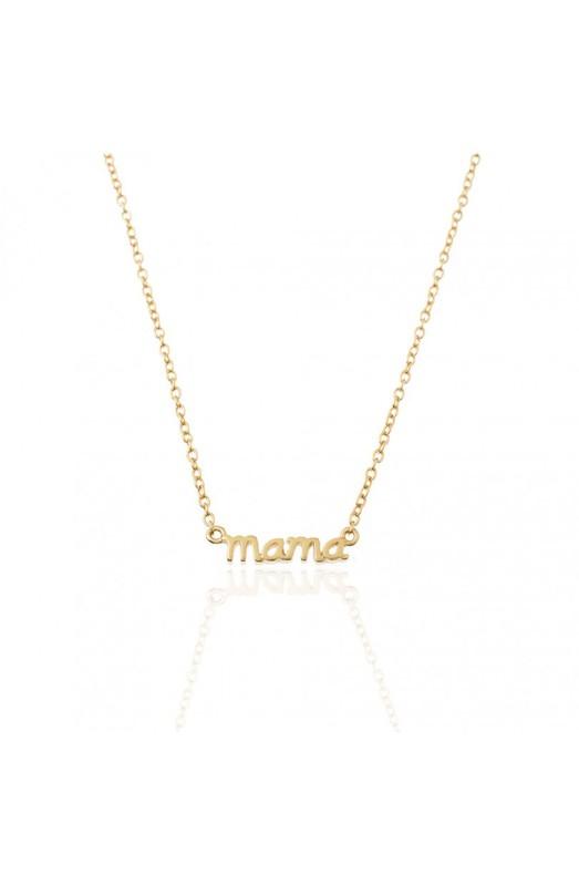vacío halcón Altitud  Joya collar de plata de ley 925 bañado en oro de 18 quilates con colgante  de Mamá — Trens Joies