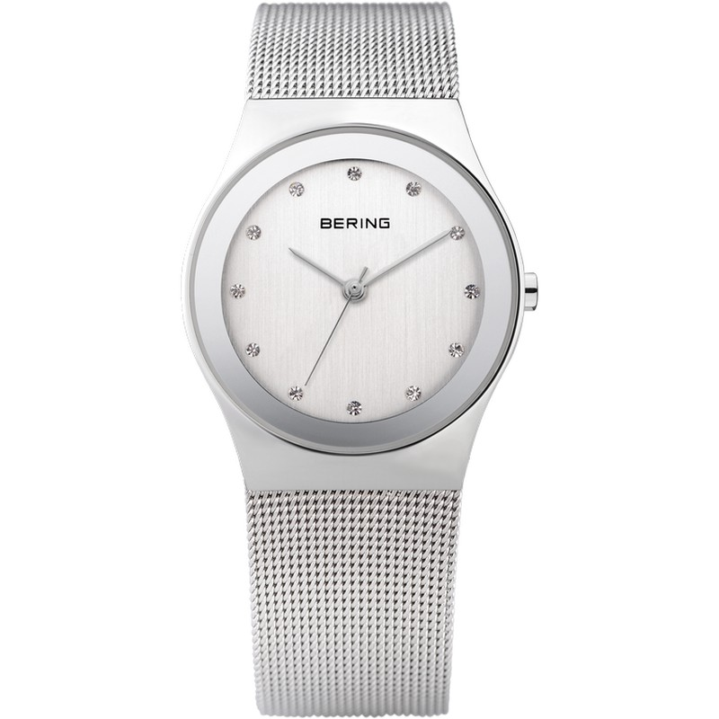 dbdb39abedde Reloj Bering Clásico Mujer Malla y Swarovski Elements Plateado ...